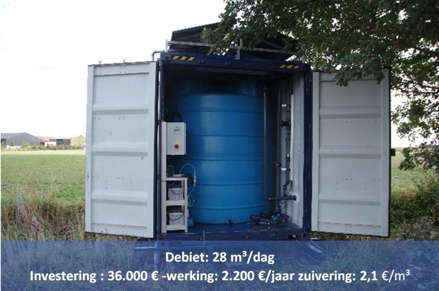 Debiet: 28 m³/dag
